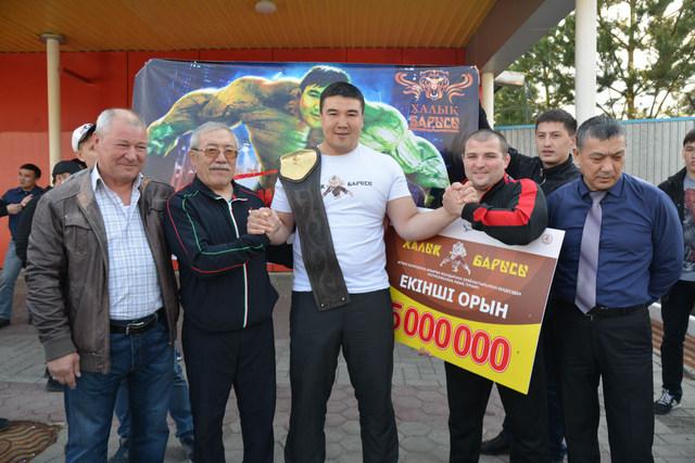 Костанайский спортсмен занял 2 место на I республиканском турнире «Халық Барысы»