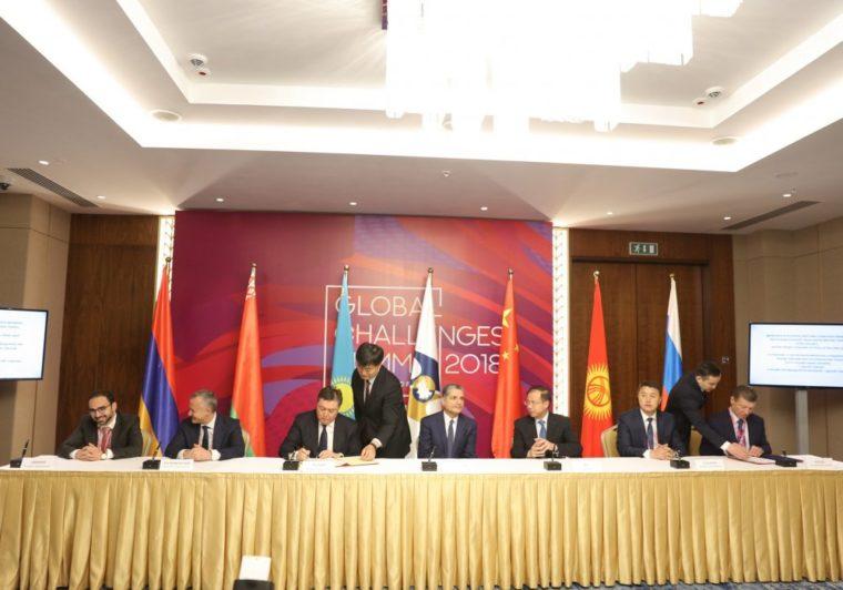 Соглашения о зоне свободной торговли между ЕАЭС, Ираном и Китаем подписаны на АЭФ