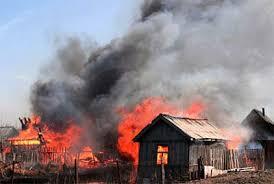 Дачные дома охватило огнём в Костанайской области