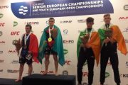 Выступающий за Германию боец поднял флаг Казахстана на чемпионате Европы