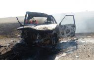 Женщина сгорела в автомобиле в результате аварии в Костанайской области