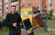 В Костанае установили первые контейнеры для отработавшей техники