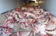 На омской границе задержали 35 тонн протухшего мяса
