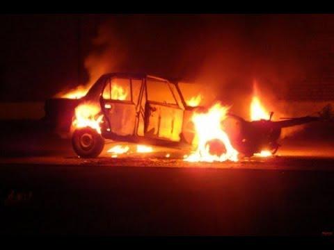 В Костанае сегодня ночью сгорел автомобиль