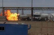 Газовая автоцистерна загорелась в Жанаозене: погиб один человек