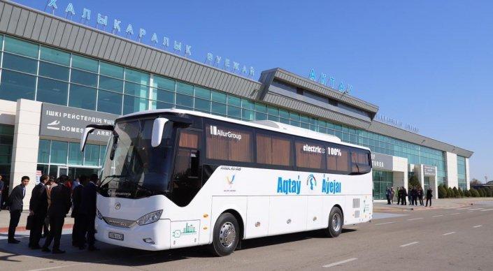 Электроавтобусы запустили в Актау