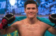 Боксер Данияр Елеусинов одержал пятую победу на профи-ринге