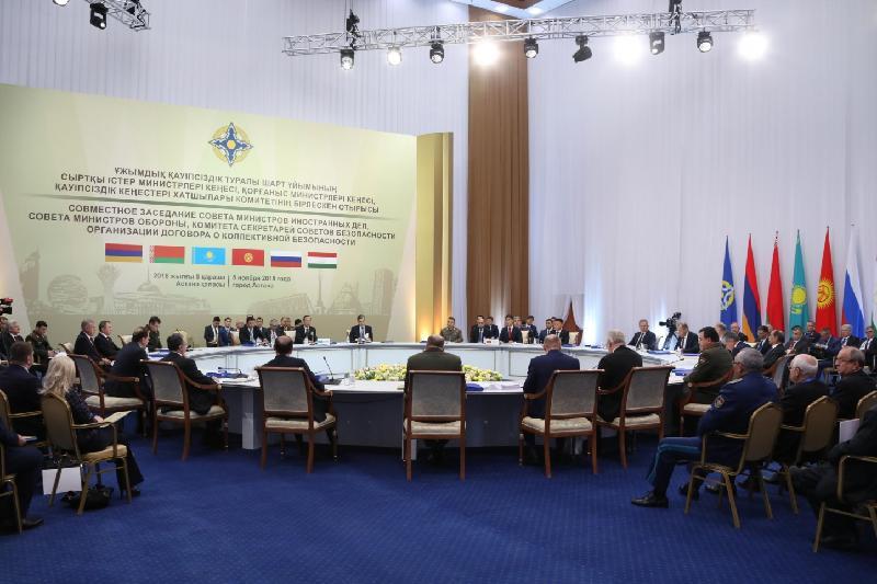Заседание Совета министров иностранных дел, обороны и Комитета секретарей совбезов ОДКБ прошло в Астане