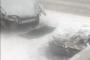 Машина снесла столб в Костанае