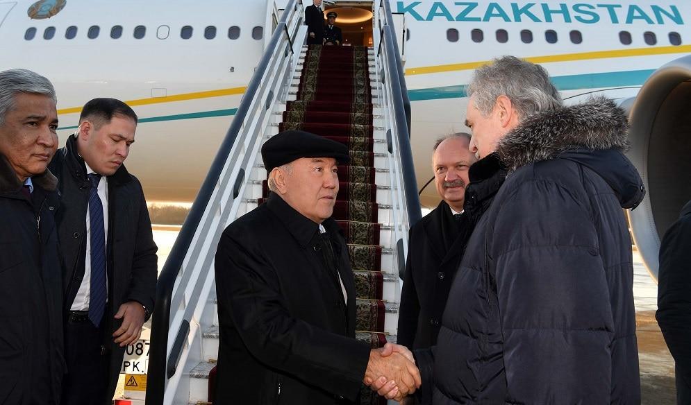 Назарбаев приехал в Санкт-Петербург