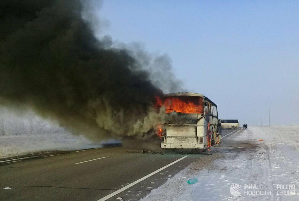 В Казахстане осудили владельца автобуса, в котором погибли 52 человека
