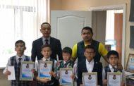 «Ак жол» наградил юных партийцев, принявших участие в республиканском турнире по казакша курес