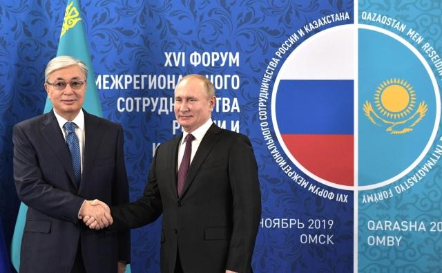 Путин и Токаев встретились в Омске