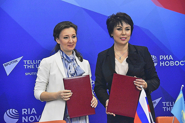 Уполномоченная по правам ребенка РФ Кузнецова и Аружан Саин подписали соглашение о взаимодействии