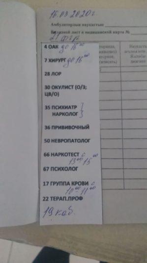 Почему в Лисаковске навязывают медосмотр с 11 специалистами  вместо пяти?
