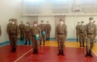 В Костанае чествовали солдат, которые проводили дезинфекцию города во время карантина
