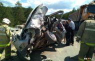 Грузовик за секунды смял пять машин: видео смертельной аварии