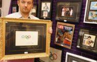 Подлинный рисунок олимпийских колец продали на аукционе в Каннах за 185 тысяч евро