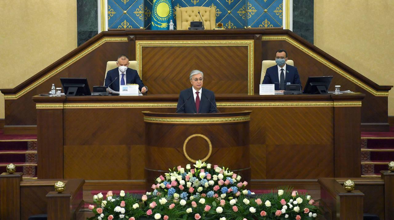Президент Касым-Жомарт Токаев выступил на открытии первой сессии Парламента VII созыва