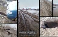 Жители Куная сняли видеообращение к акиму Костанайской области о том, как они тонут в грязи