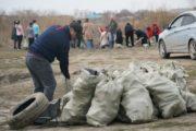 70 мешков мусора собрали на берегу Тобола волонтеры ОФ «Жанашыр бол» и журналисты «НК»