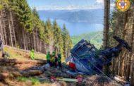 14 человек погибли в результате падения кабины канатной дороги в Италии