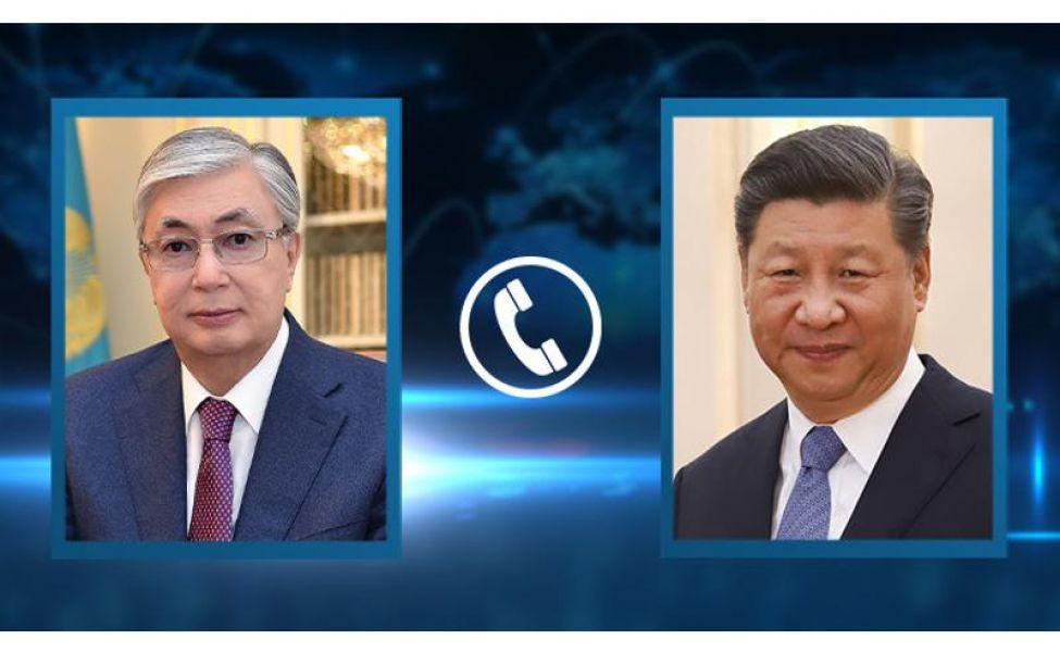 Состоялся телефонный разговор президента Казахстана с председателем КНР