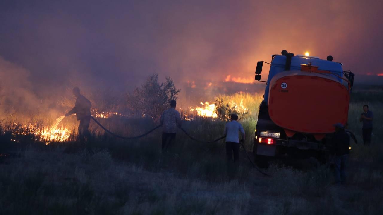 Есть пострадавшие: степные пожары выжгли 3000 га земли в Карагандинской области